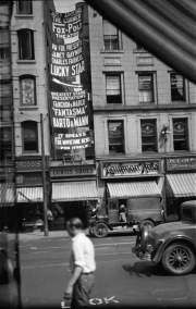 Banner advertising the show at the Fox Poli Theater in Springfield, Massachusetts - 1929.