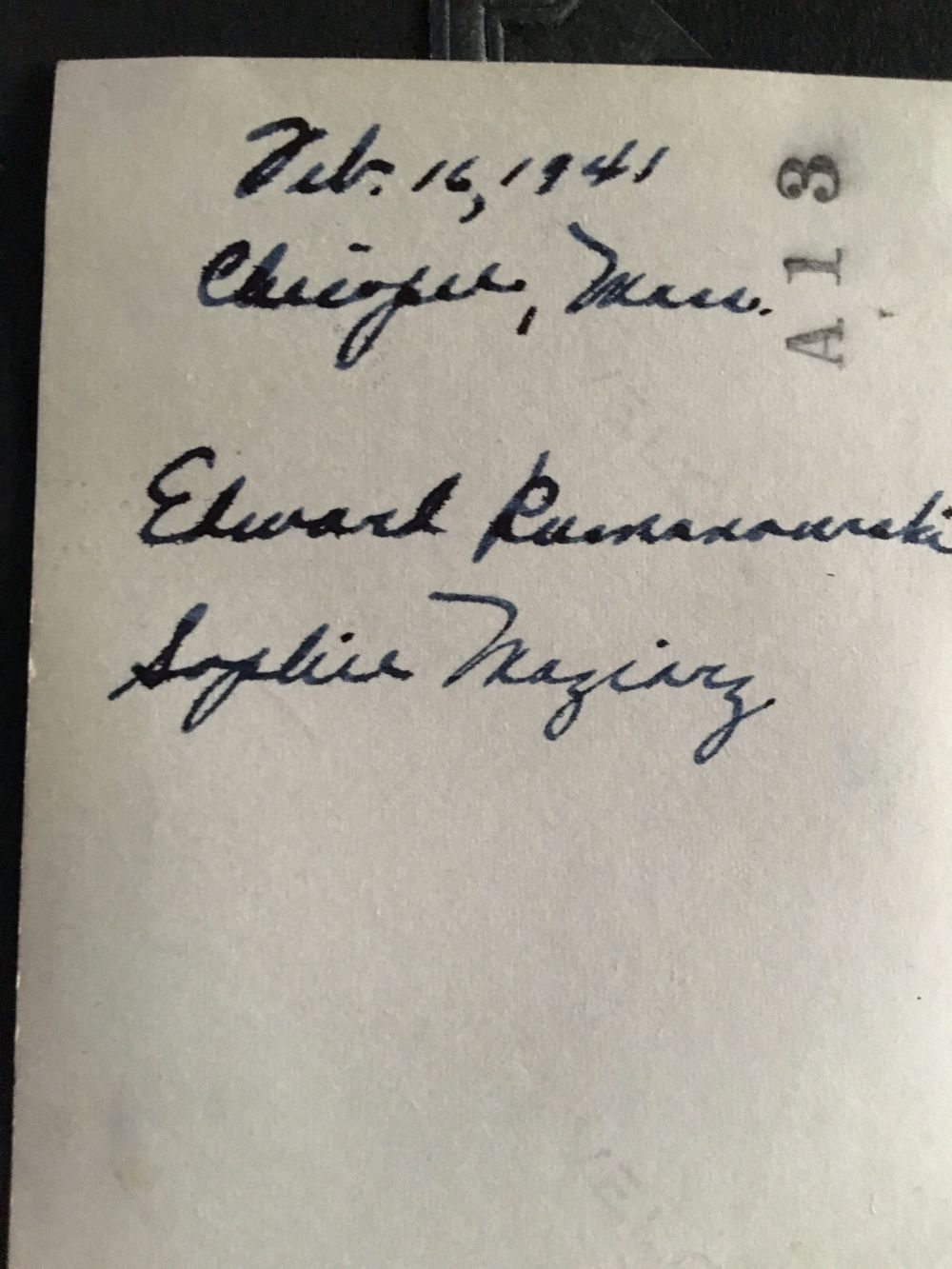 feb 16 1941 zosh b